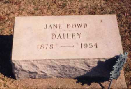 DOWD DAILEY, JANE - Meigs County, Ohio | JANE DOWD DAILEY - Ohio Gravestone Photos