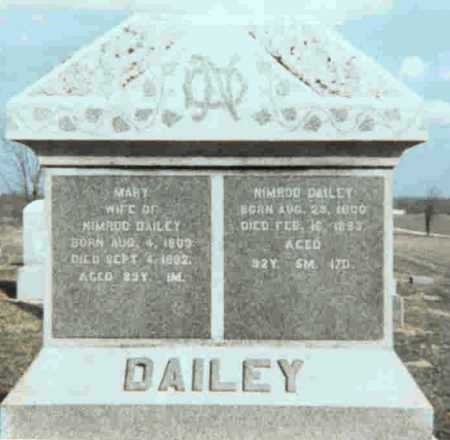 DAILEY, MARY - Meigs County, Ohio | MARY DAILEY - Ohio Gravestone Photos