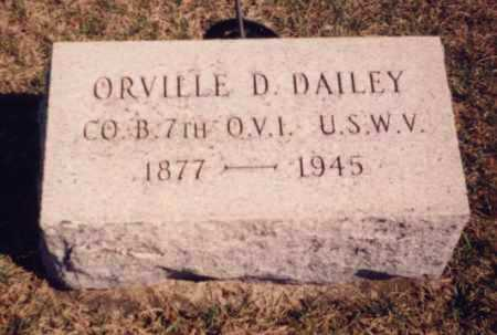 DAILEY, ORVILLE D. - Meigs County, Ohio | ORVILLE D. DAILEY - Ohio Gravestone Photos