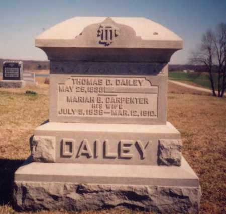 DAILEY, THOMAS D. - Meigs County, Ohio | THOMAS D. DAILEY - Ohio Gravestone Photos