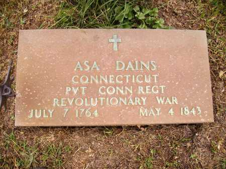 DAINS, ASA - CLOSE VIEW - Meigs County, Ohio | ASA - CLOSE VIEW DAINS - Ohio Gravestone Photos