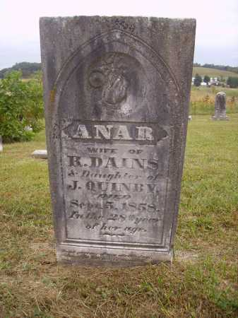 QUINBY DAINS, ANAR - Meigs County, Ohio | ANAR QUINBY DAINS - Ohio Gravestone Photos
