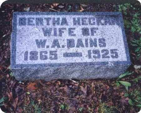HECKARD DAINS, BERTHA - Meigs County, Ohio | BERTHA HECKARD DAINS - Ohio Gravestone Photos