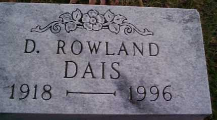 DAIS, ROWLAND - Meigs County, Ohio | ROWLAND DAIS - Ohio Gravestone Photos