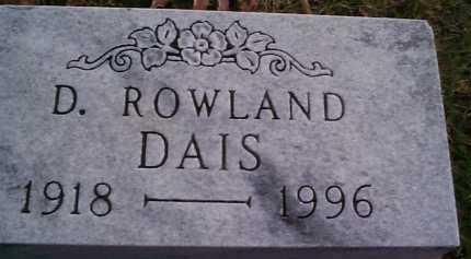 DAIS, ROWLAND - Meigs County, Ohio | ROWLAND DAIS - Ohio Gravestone Photos