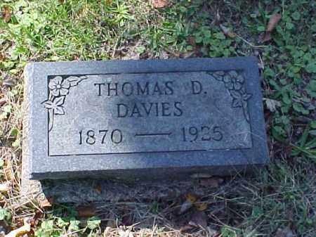 DAVIES, THOMAS D. - Meigs County, Ohio | THOMAS D. DAVIES - Ohio Gravestone Photos