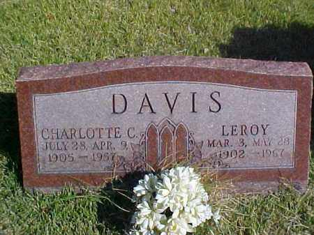 DAVIS, LEROY - Meigs County, Ohio | LEROY DAVIS - Ohio Gravestone Photos