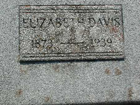 DAVIS, ELIZABETH - Meigs County, Ohio | ELIZABETH DAVIS - Ohio Gravestone Photos