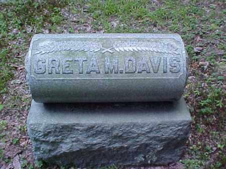 DAVIS, GRETA M. - Meigs County, Ohio | GRETA M. DAVIS - Ohio Gravestone Photos