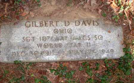 DAVIS, GILBERT D. - Meigs County, Ohio | GILBERT D. DAVIS - Ohio Gravestone Photos