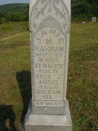 HARMAN DAVIS, JANIE M. - Meigs County, Ohio | JANIE M. HARMAN DAVIS - Ohio Gravestone Photos