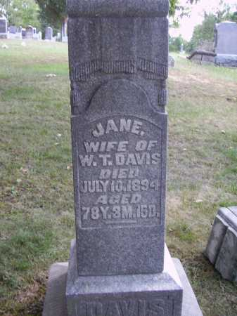 DAVIS, JANE - Meigs County, Ohio | JANE DAVIS - Ohio Gravestone Photos