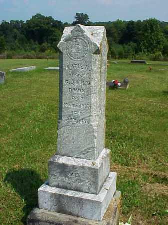 DAVIS, KATIE V. - Meigs County, Ohio | KATIE V. DAVIS - Ohio Gravestone Photos