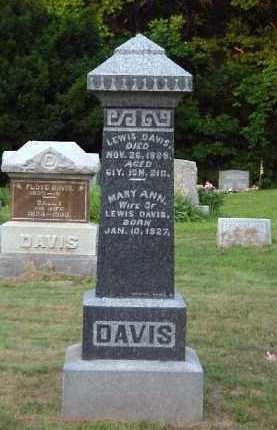 DAVIS, MARY ANN - Meigs County, Ohio | MARY ANN DAVIS - Ohio Gravestone Photos