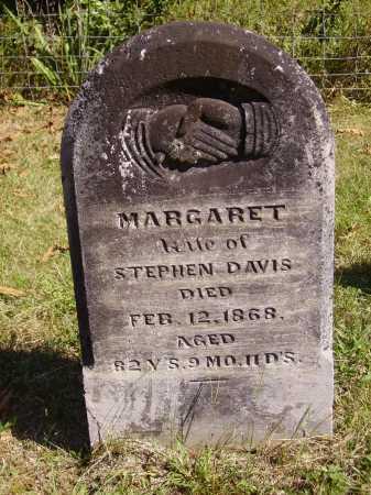 DAVIS, MARGARET - Meigs County, Ohio   MARGARET DAVIS - Ohio Gravestone Photos