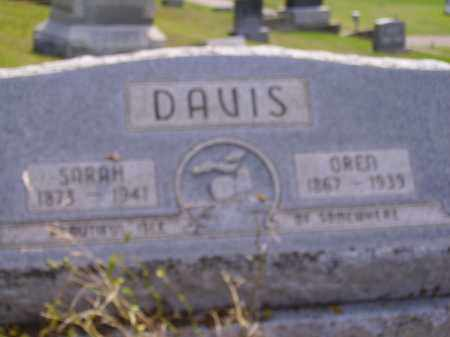 DAVIS, OREN - Meigs County, Ohio | OREN DAVIS - Ohio Gravestone Photos