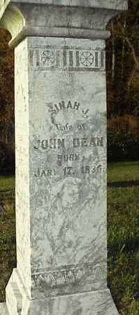 BLACKBURN DEAN, SINAH J. - Meigs County, Ohio | SINAH J. BLACKBURN DEAN - Ohio Gravestone Photos