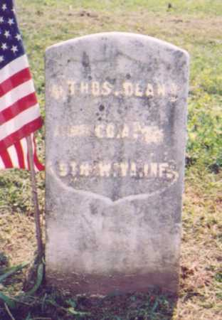 DEAN, THOMAS - Meigs County, Ohio | THOMAS DEAN - Ohio Gravestone Photos