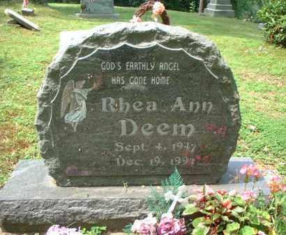 DEEM, RHEA ANN - Meigs County, Ohio | RHEA ANN DEEM - Ohio Gravestone Photos