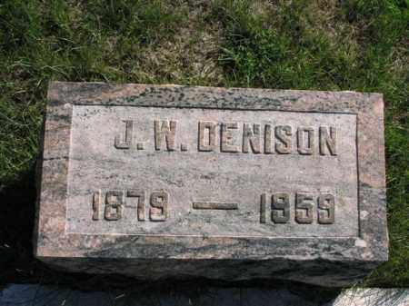 DENISON, J.W. - Meigs County, Ohio | J.W. DENISON - Ohio Gravestone Photos