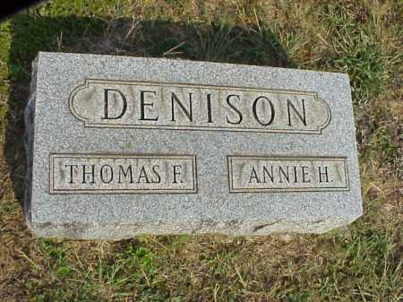 DENISON, THOMAS F. - Meigs County, Ohio | THOMAS F. DENISON - Ohio Gravestone Photos