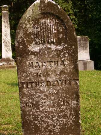 DEWITT, MARTHA - Meigs County, Ohio | MARTHA DEWITT - Ohio Gravestone Photos