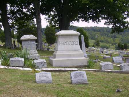 BRADFORD FAMILY MONUMENT, BURIAL PLOT - Meigs County, Ohio | BURIAL PLOT BRADFORD FAMILY MONUMENT - Ohio Gravestone Photos