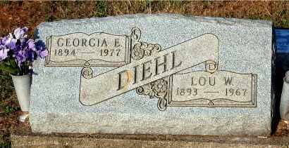 DIEHL, LOU W - Meigs County, Ohio | LOU W DIEHL - Ohio Gravestone Photos