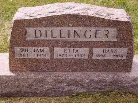 DILLINGER, BABE - Meigs County, Ohio | BABE DILLINGER - Ohio Gravestone Photos