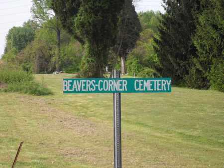 DORCAS - SUTTON TWP, BEAVERS CORNER SIGN - Meigs County, Ohio | BEAVERS CORNER SIGN DORCAS - SUTTON TWP - Ohio Gravestone Photos