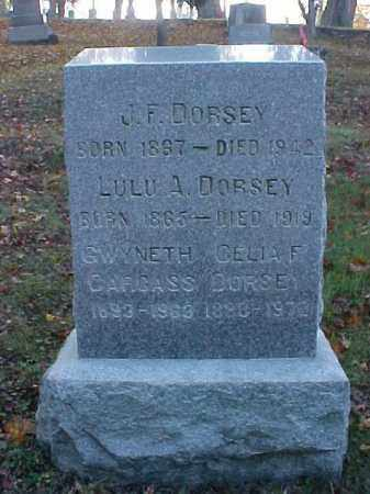 DORSEY, J. F. - Meigs County, Ohio | J. F. DORSEY - Ohio Gravestone Photos