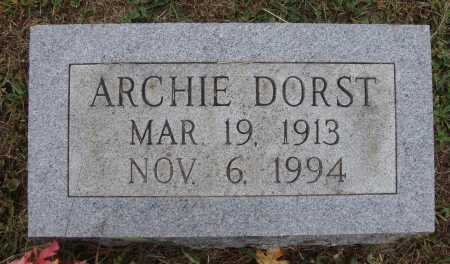 DORST, ARCHIE - Meigs County, Ohio | ARCHIE DORST - Ohio Gravestone Photos