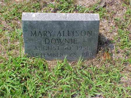 DOWNIE, MARY ALLISON - Meigs County, Ohio | MARY ALLISON DOWNIE - Ohio Gravestone Photos