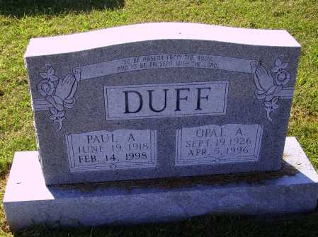 DUFF, OPAL A. - Meigs County, Ohio | OPAL A. DUFF - Ohio Gravestone Photos