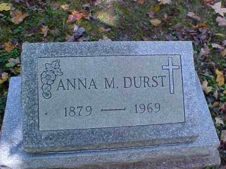 DURST, ANNA M. - Meigs County, Ohio | ANNA M. DURST - Ohio Gravestone Photos
