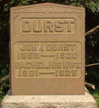 DURST, RACHEL - Meigs County, Ohio | RACHEL DURST - Ohio Gravestone Photos