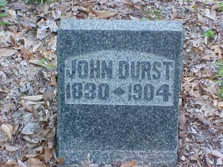 DURST, JOHN - Meigs County, Ohio | JOHN DURST - Ohio Gravestone Photos