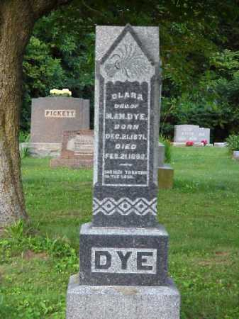 DYE, CLARA - Meigs County, Ohio | CLARA DYE - Ohio Gravestone Photos