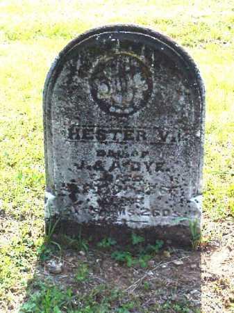 DYE, HESTER V. - Meigs County, Ohio | HESTER V. DYE - Ohio Gravestone Photos