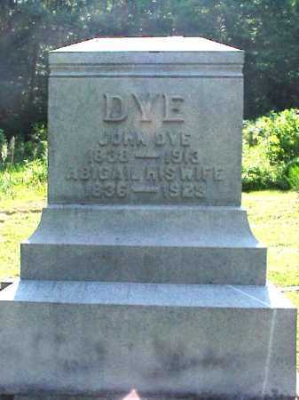 DYE, JOHN - Meigs County, Ohio | JOHN DYE - Ohio Gravestone Photos