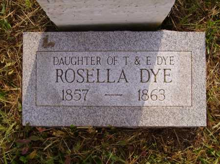 DYE, ROSELLA - Meigs County, Ohio | ROSELLA DYE - Ohio Gravestone Photos