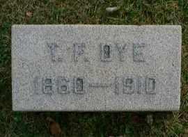 DYE, T. F - Meigs County, Ohio | T. F DYE - Ohio Gravestone Photos