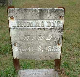 DYE, THOMAS - Meigs County, Ohio | THOMAS DYE - Ohio Gravestone Photos