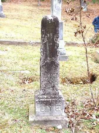 DYE, UNKNOWN - Meigs County, Ohio | UNKNOWN DYE - Ohio Gravestone Photos