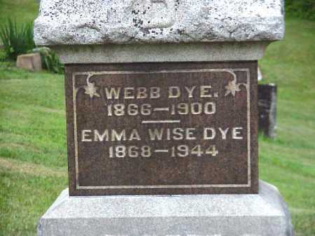 DYE, EMMA - Meigs County, Ohio | EMMA DYE - Ohio Gravestone Photos