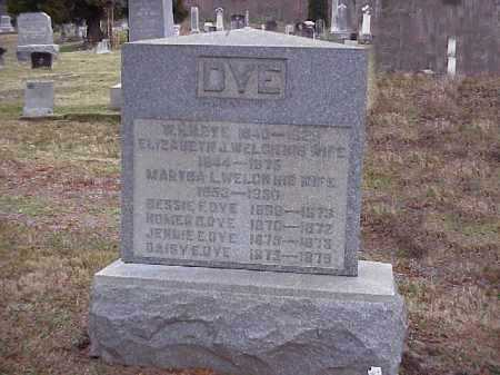 WELCH DYE, MARTHA L. - Meigs County, Ohio | MARTHA L. WELCH DYE - Ohio Gravestone Photos