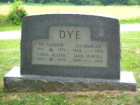 DYE, ZACHARIAH - Meigs County, Ohio | ZACHARIAH DYE - Ohio Gravestone Photos
