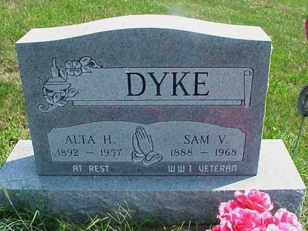 DYKE, SAM V. - Meigs County, Ohio | SAM V. DYKE - Ohio Gravestone Photos