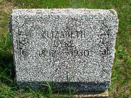 DYKE, ELIZABETH - Meigs County, Ohio | ELIZABETH DYKE - Ohio Gravestone Photos