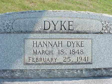 DYKE, HANNAH - Meigs County, Ohio | HANNAH DYKE - Ohio Gravestone Photos